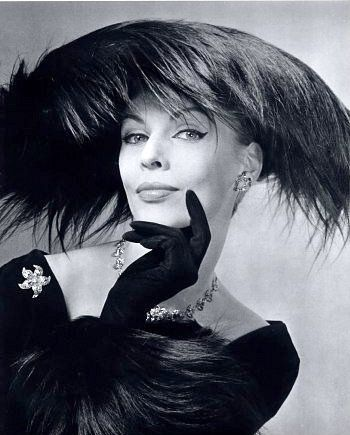 Feather hat by Albouy Millinery, Paris 1956