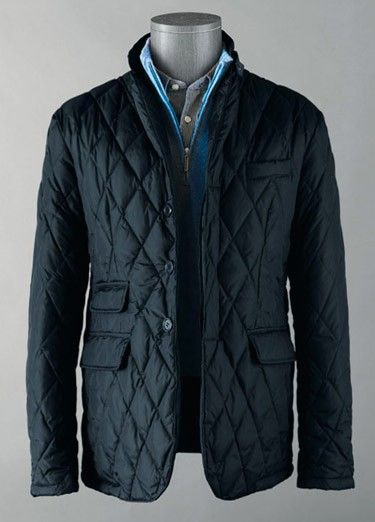 ...ok, I just GOTTA get one of these diamond quilted coats
