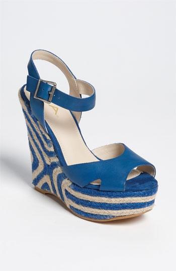 Love this blue! MIA Milann Sandal