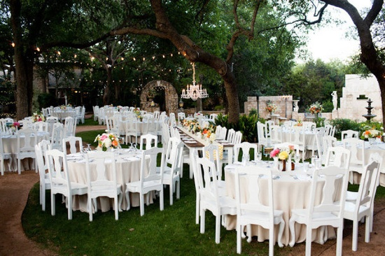 old vintage chairs used at the reception