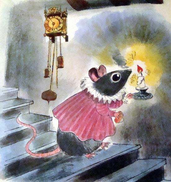 """""""The Mouse with Bobbed Whiskers"""" (1960)  Clearly, mice are afraid of the dark."""