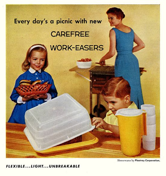 How to make every day a picnic! #vintage #1950s #homemaker #plastics #ads