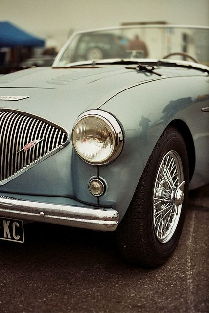 Austin Healey. #coolcars QuirkyRides.com.