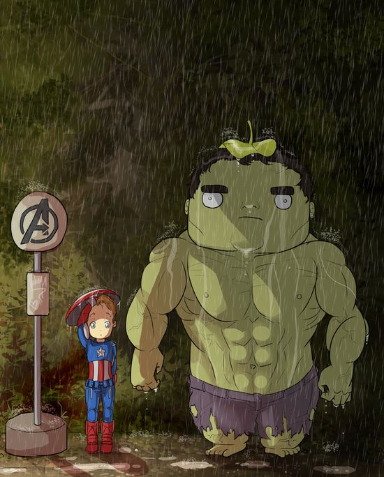 My Neighbour, Hulk by Samoubica.deviant...