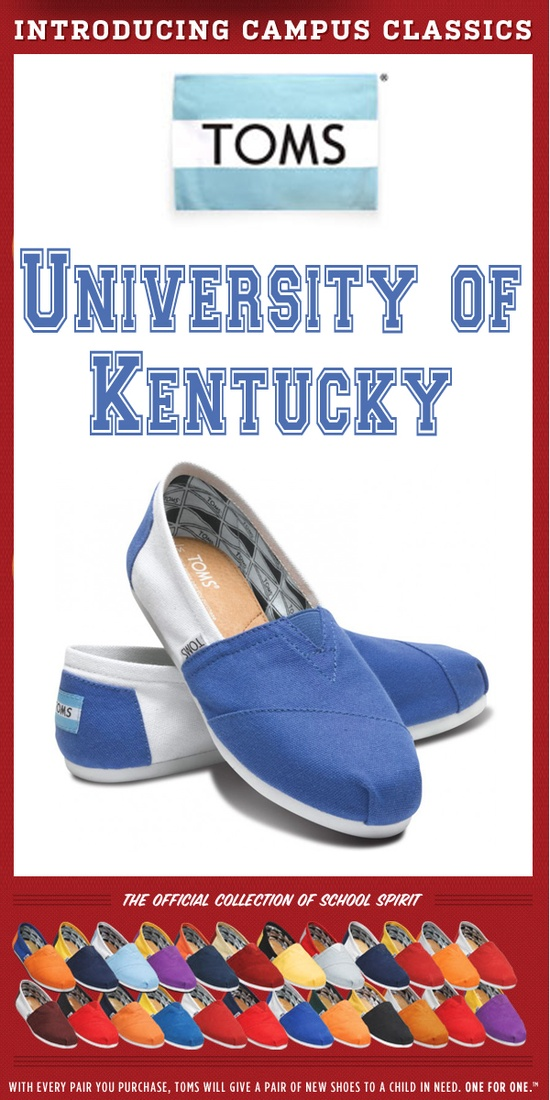 TOMS Shoes University of Kentucky Campus Classics - One for One