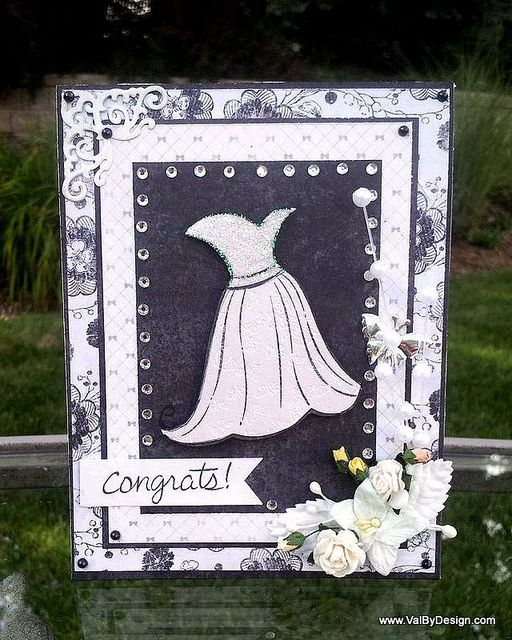 Bridal Shower card with Lawn Fawn's Happily Ever After