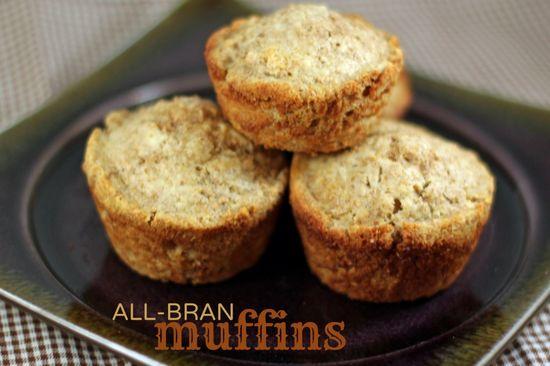 All-Bran Muffins   Full of fiber and still delicious.