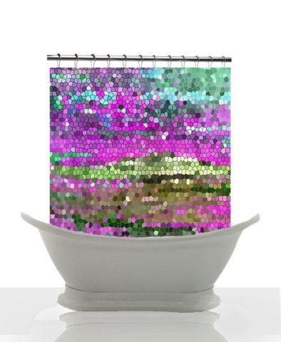 Artistic Mosaic Shower Curtain