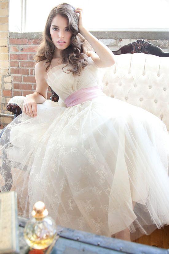 1950s Wedding Dress / Pink Dress / Dress / Dresses / by aiseirigh, $765.00