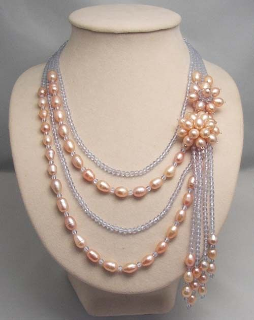 bridesmaid gift Bead NecklaceBeaded JewelryPearl by audreyjewelry, $24.00
