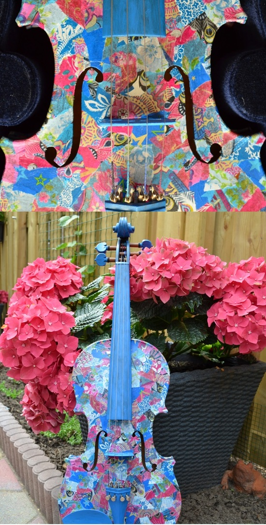 My work! Decorated violin!