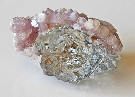 Gem Topaz with Lepidolite Crystals
