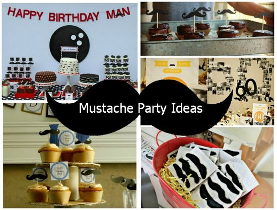 Mustache Party Ideas #MensParties #Mustache #Movember