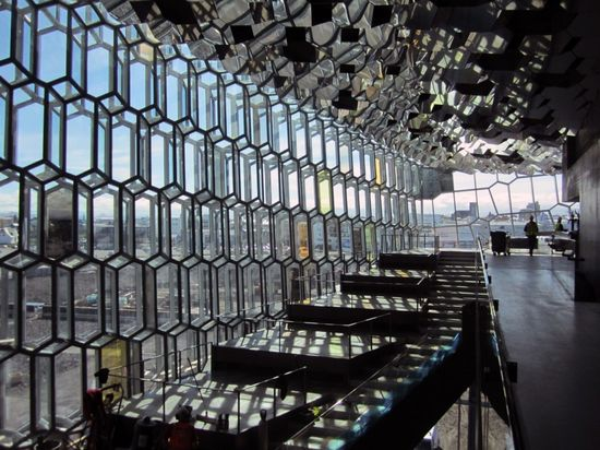 Facade of Harpa Concert Hall and Conference Centre
