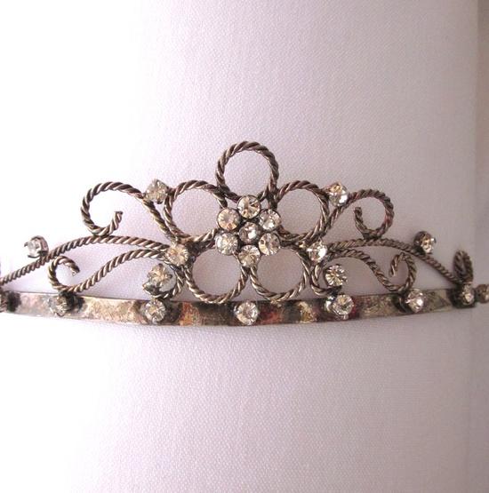 Rhinestone Tiara with Braided Silver Bridal Tiara ?