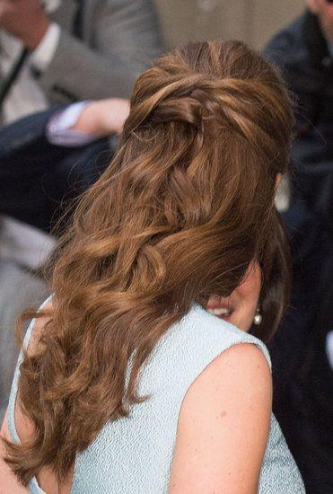 Kate Middleton Half-Up Hairstyle
