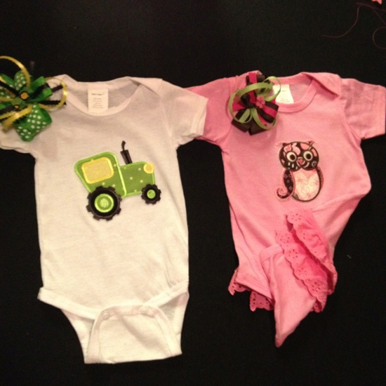 Cute baby clothes that we made