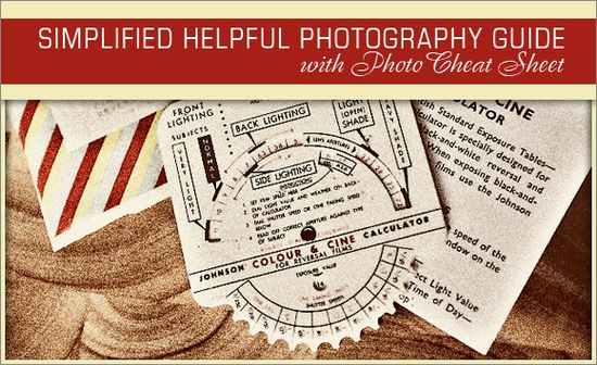 photo cheat sheets