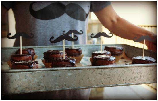Mustache Party Ideas #Mustache cupcakes