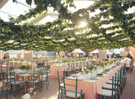Tented Reception Area // Photography: Liz Banfield Photography // Event Planner: Tara Guérard // TheKnot.com