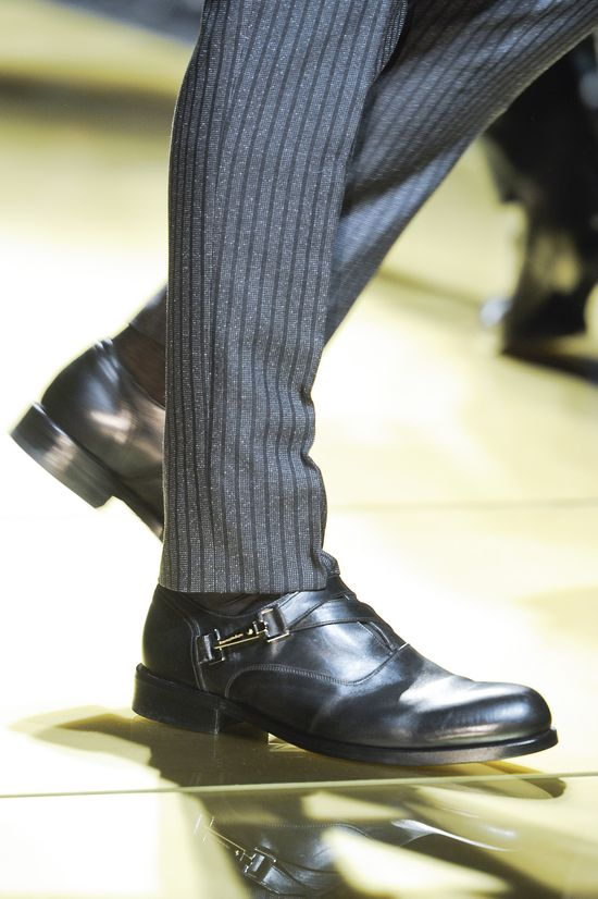 Ermenegildo Zegna F/W 2013. Pant length = is perfection. the shoe choice= spectacular.