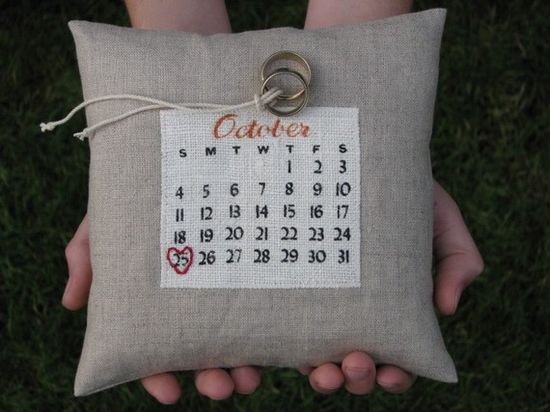 Love our customized ring bearer pillow. Now it's a great keepsake.