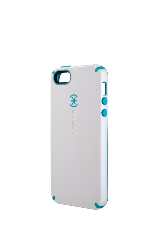 CandyShell for iPhone 5 - White/Peacock Blue
