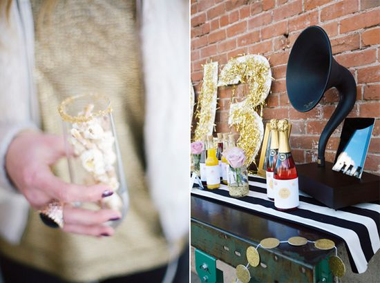 new year's ever party ideas + easy last-minute decorations