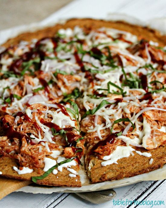 BBQ Chicken Pizza with cauliflower crust»  @Julie Forrest {Table for Two}