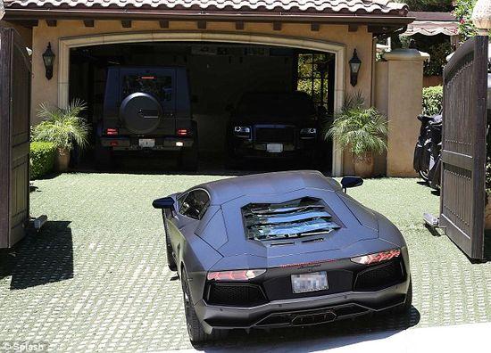 Watch Kanye West's Lamborghini Aventador crashing Into Kim Kardashian's Gates