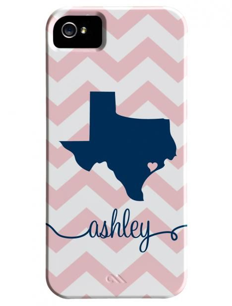 Personalized Texas phone case