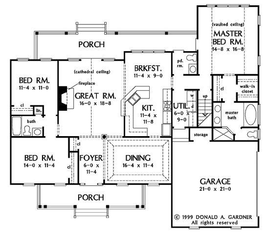 smaller open floor plan