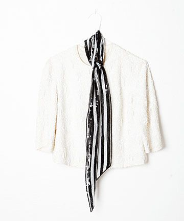 striped sequin scarf