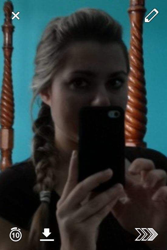 French braid with a bump