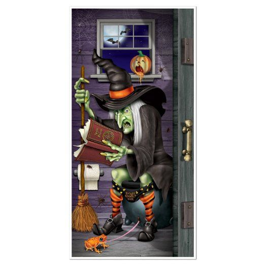 Witch Restroom Door Cover Party Accessory