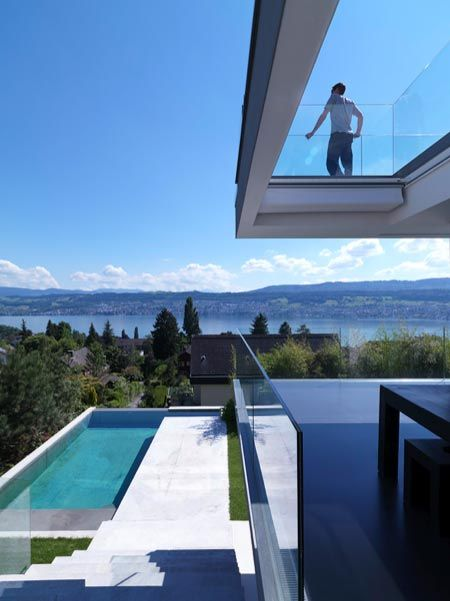DREAM HOMES WITH A VIEW: Overlooking Lake Zurich. 5/27/2012 via @Dezeen magazine magazine magazine magazine
