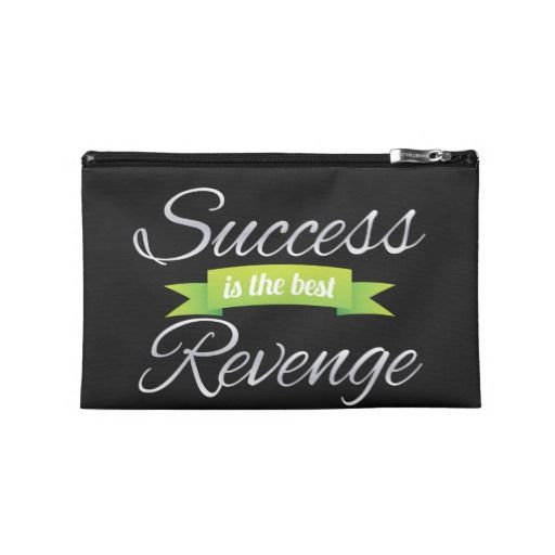 Success is the Best Revenge Green Travel Accessories Bags