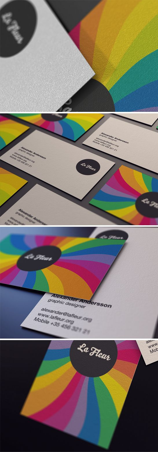 Colorful Business Card photography