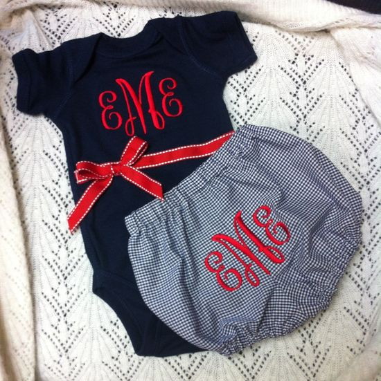 Monogrammed Baby Gift Set.