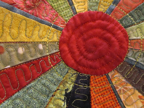 from Festival of Quilts (photo by scrappyannie at flickr) #quilting #sewing #art #handmade #crafts