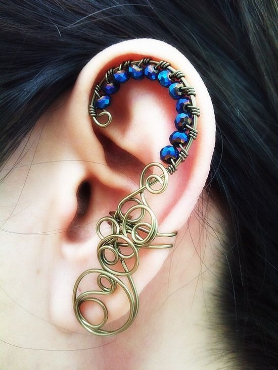 Ear Cuff - Wire Wrapped Handmade Jewelry#Repin By:Pinterest++ for iPad#