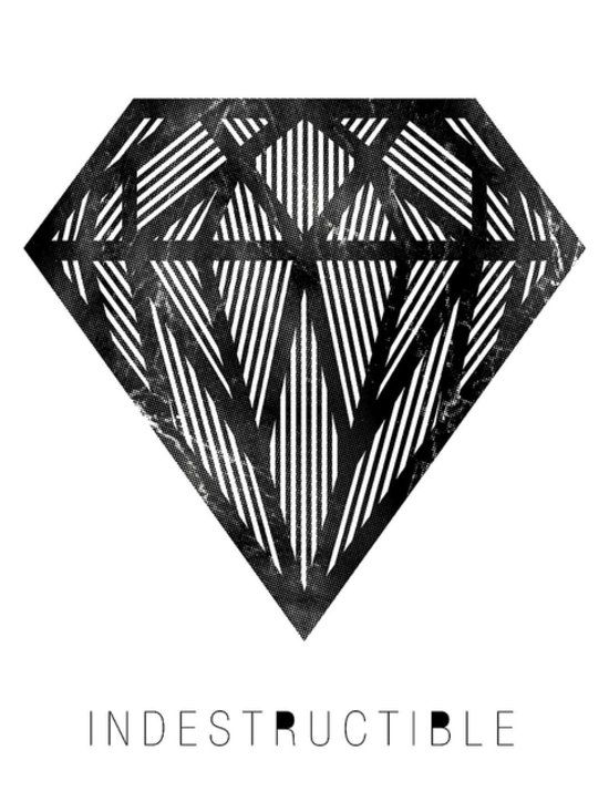 Diamonds are a wall's best friend with this print ($15).
