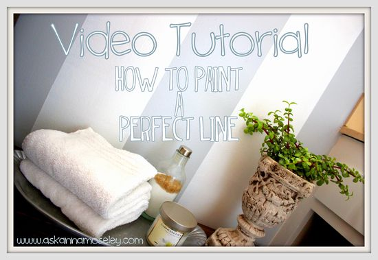 Video Tutorial: How to Paint a Perfect Line - Ask Anna