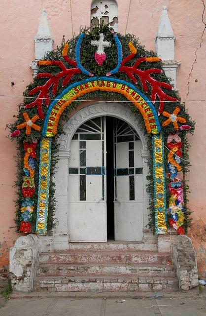 Santiago Tolman Church Door, Mexco