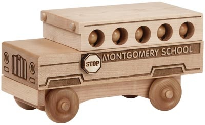 Natural Wood Toy Trucks