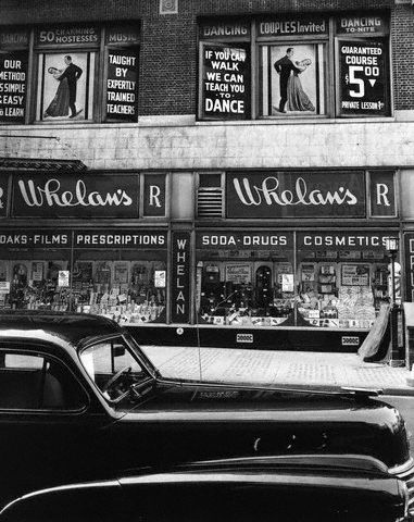 NYC. Manhattan. Brett Weston, Whelan's Drug Store, 1944