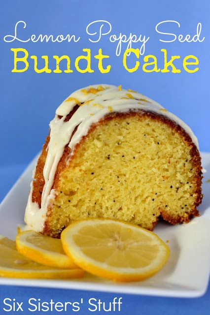 Lemon Poppy Seed Bundt Cake from SixSistersStuff.com- so easy to make!