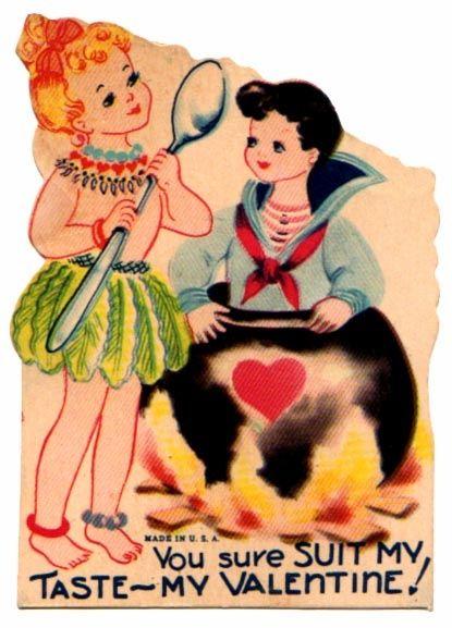 Vintage Valentine Love. You sure suit my taste - my Valentine!