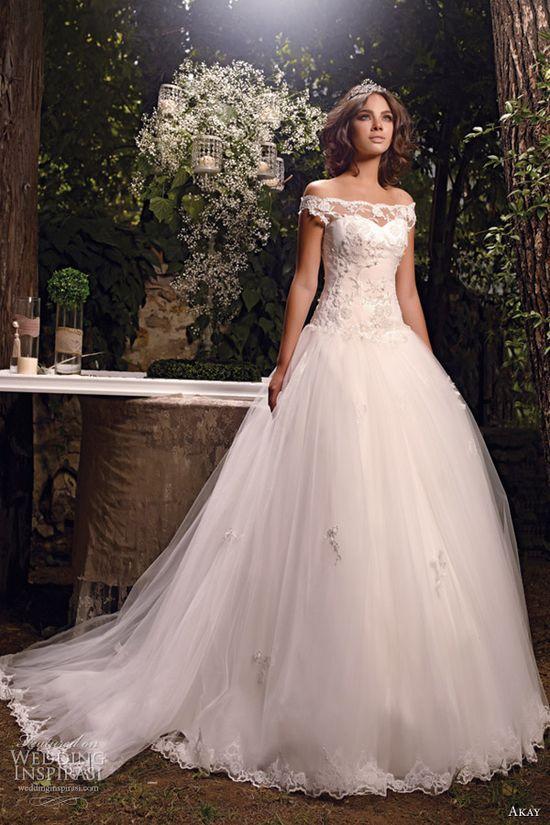 akay wedding dresses 2013 bridal gown off shoulder straps