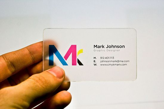 clear acrylic business card